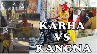 Download Hindi Video Songs - Karha vs Kangna | Mehtab Virk , Molina Sodhi | Making , Behind The Scenes|