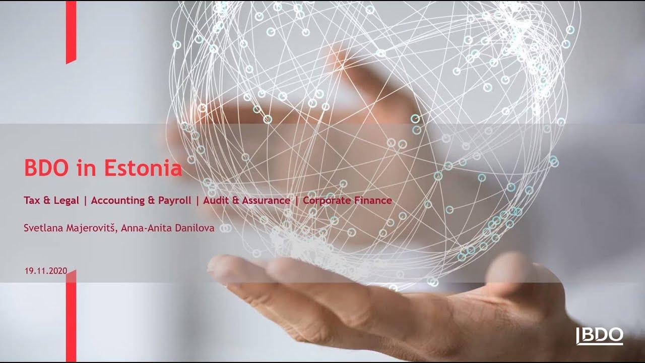 BDO webinar for future e-Residents of Estonia