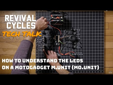 How To understand the LEDs on a Motogadget m.Unit (mo.Unit) // Revival Tech Talk