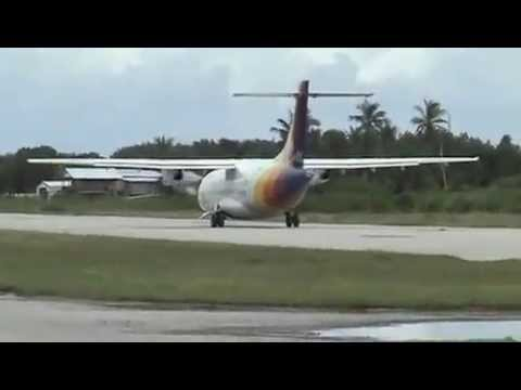 PacificSun Flight Departure from Funafuti in Tuvalu 07/02/13