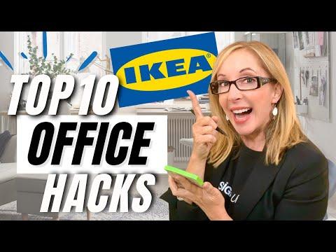TOP 10 IKEA HOME OFFICE TIPS & HACKS!