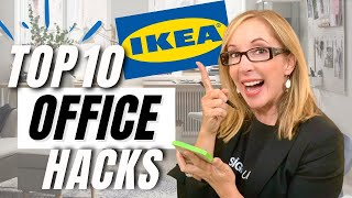 TOP 10 IKEA HOME OFFICE TIPS & HACKS!