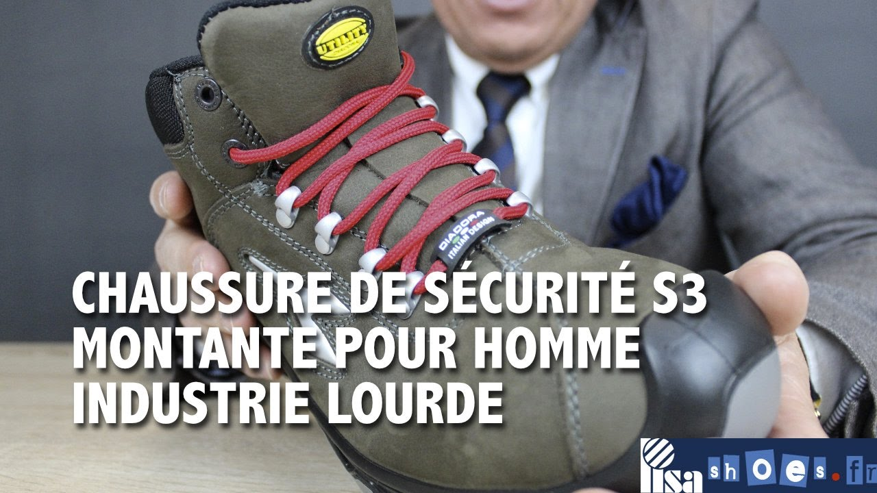 0e47ae654544bb CHAUSSURE SÉCURITÉ DIADORA UTILITY HOMME S3 INDUSTRIE LOURDE. Lisashoes /  Lisavet