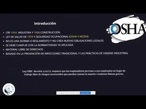 Preparación de lugares de trabajo para COVID 19 OSHA USA