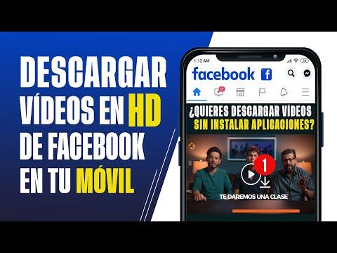 ¿Cómo Descargar Vídeos de Facebook en HD? desde el Celular [2021]