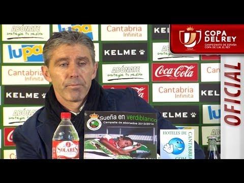 Rueda de Prensa de Paco Fernández tras el Racing de Santander - Real Sociedad - HD Copa del Rey