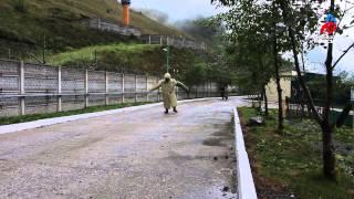 Работа служебной собаки на российско-грузинской границе