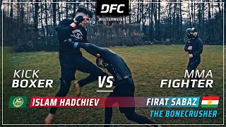 Chechen-WOLF vs. Kurdish-BONECRUSHER  | MMA STREETFIGHT | DFC