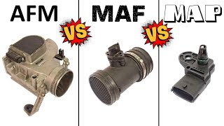 AFM vs. MAF vs. MAP - Air flow SENSORS - HOW they WORK and how they DIFFER from each other