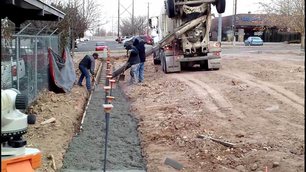 Retaining Wall Footing Pour 11413mp4 YouTube