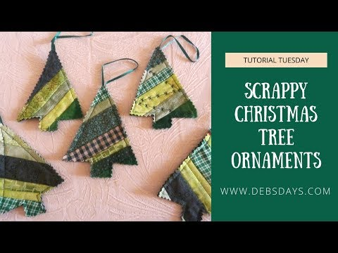 How to Sew Scrappy Christmas Tree Ornaments from Fabric Scraps - DIY Project