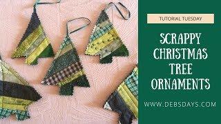 Scrappy Christmas Tree Ornaments