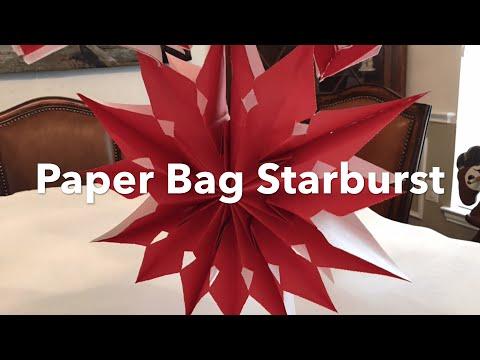 Party Decor | Paper Bag Starburst