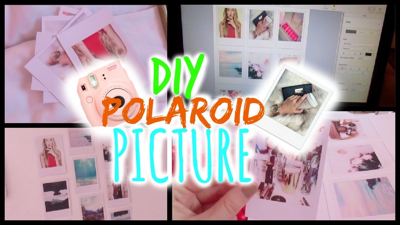 DIY Polaroid Pictures TUMBLR ROOM DECOR YouTube