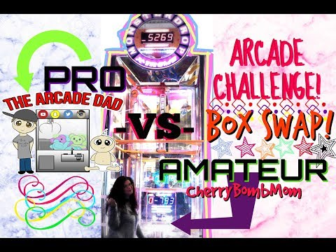PRO -VS- AMATEUR ARCADE CHALLENGE COLLAB!   with BOX SWAP!