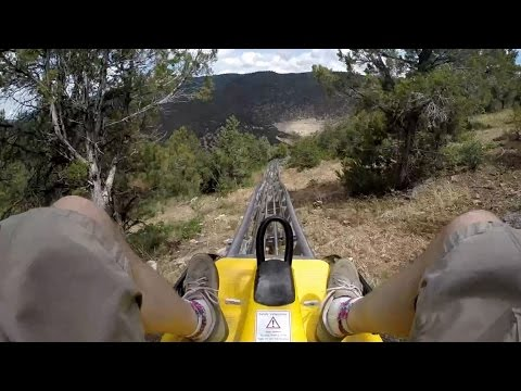 Alpine Coaster POV - Glenwood Caverns (HD)