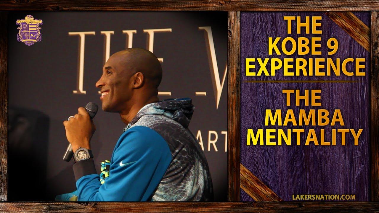 kobe bryant explains mamba mentality kobe experience youtube