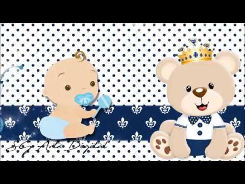 Convite Animado Cha De Bebe Ursinho Principe Youtube