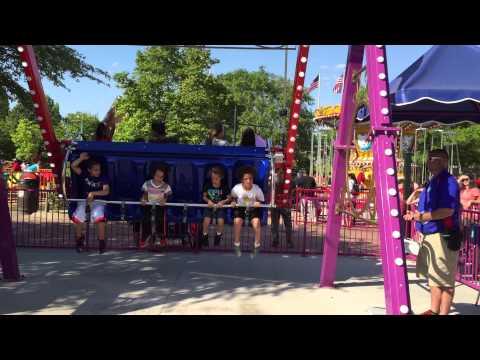 Kentucky Kingdom Amusement Park Hurricane Bay Water Park Kiddie Rides Big Swing