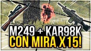 ¡M249 Y KAR98K CON MIRA X15! - PLAYERUNKNOWN'S BATTLEGROUNDS GAMEPLAY ESPAÑOL (PUBG) | Winghaven