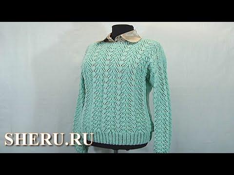 Ютуб вязание на спицах свитера 39