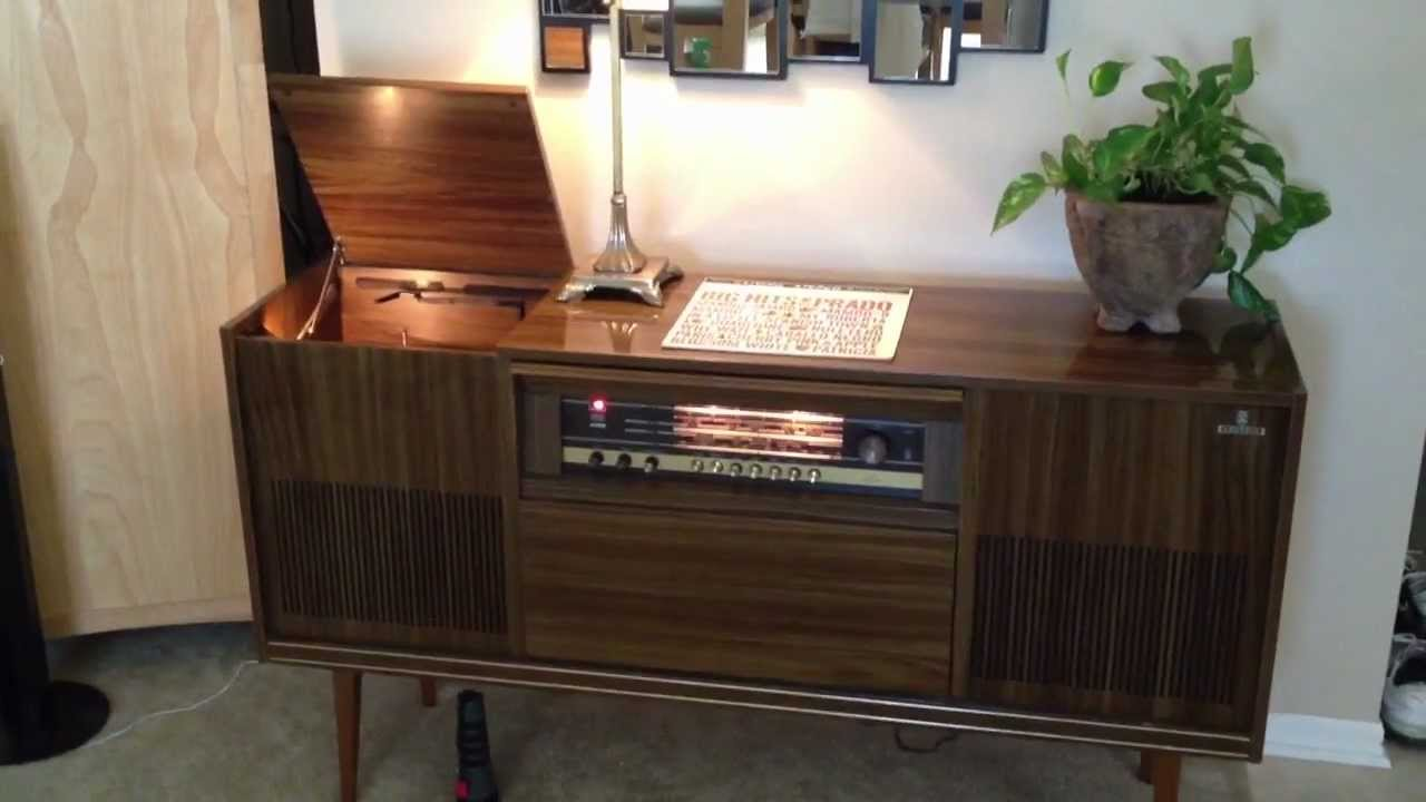 Meuble Vintage Tv Grundig Console Stereo - Youtube