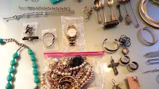 Yard sale haul, estate sale haul, jewelry haul #51 (September 10,2018)