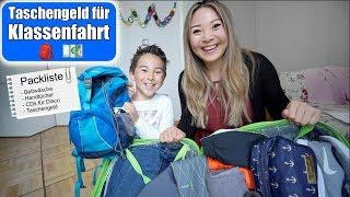 Packliste für Klassenfahrt 🚌 Wieviel Taschengeld für Johann? Koffer packen für Schule | Mamiseelen