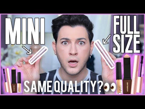 FULL SIZE VS. TRAVEL SIZE MAKEUP! IS THE QUALITY DIFFERENT?!