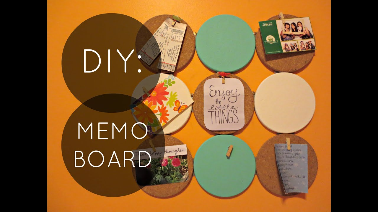 Diy cork memo board youtube for How to make a bulletin board without cork
