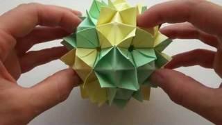 Как сделать Кусудаму | Модульное оригами | Украшение из бумаги | Оригами | Origami