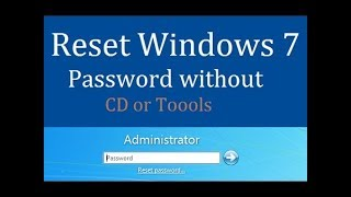 how to recover windows7 forgotten password