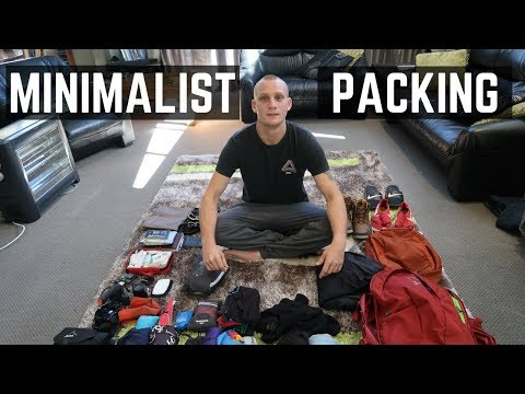 MINIMALIST TRAVEL // MALES PACKING LIST // OPSREY FARPOINT 40