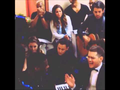 Michael Buble' dressing room warm ups 2