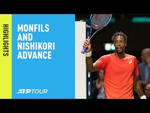 Highlights: Nishikori, Monfils Advance On Tuesday In Rotterdam