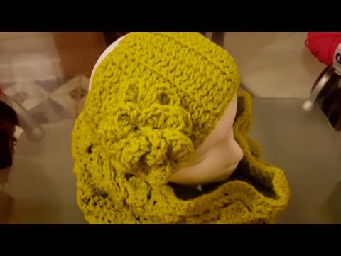 Diadema o banda invernal con en crochet ganchillo - Diademas a crochet ...