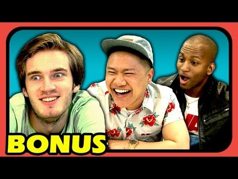 Youtubers react to try to watch this without laughing extras 11