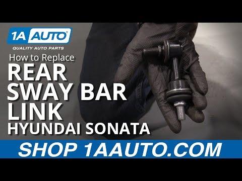 How to Replace Rear Sway Bar Link 11-15 Hyundai Sonata