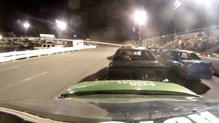 ace speedway,bad luck hub breaks wheel comes off while leading race#46 incar camera