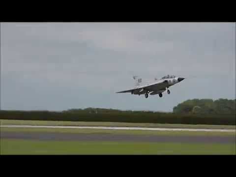 Saab 35 Draken swedish air force historic flight  Waddington 2014