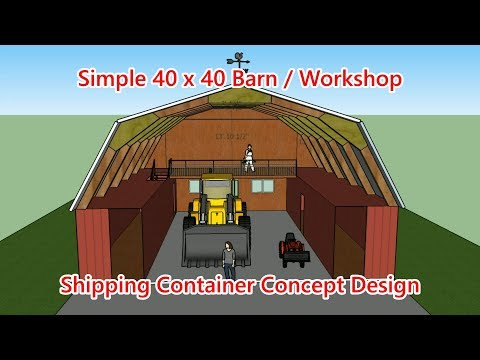40 x 40 Barn / Shop Container Design Concept