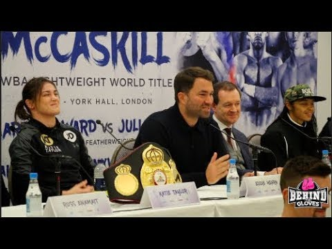 TAYLOR-MCCASKILL PRESS CONFERENCE: EDDIE HEARN, OKOLIE, BENN, CORDINA, BALL, CASH, CHEESEMAN & WARD