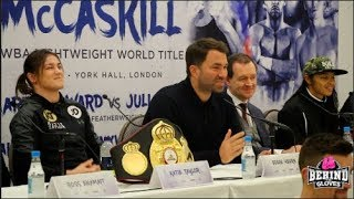 TAYLOR-MCCASKILL PRESS CONFERENCE: EDDIE HEARN, OKOLIE, BENN, CORDINA, BALL, CASH, CHEESEMAN & WARD