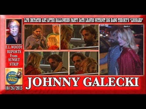 Johnny Galecki Star Of Big Bang Theory After Halloween Party Date Leaves Without Him.