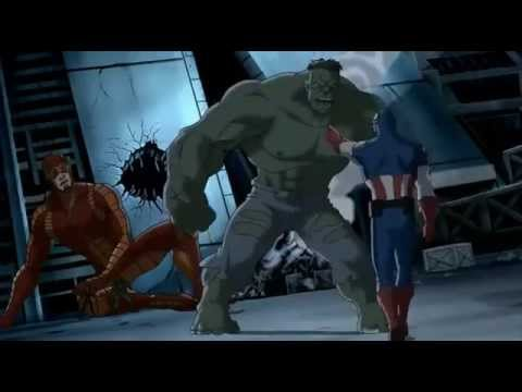 Captain America, Iron Man, Thor, Nick Fury, Giantman and  Wasp VS The Hulk  = The Ultimate Fight