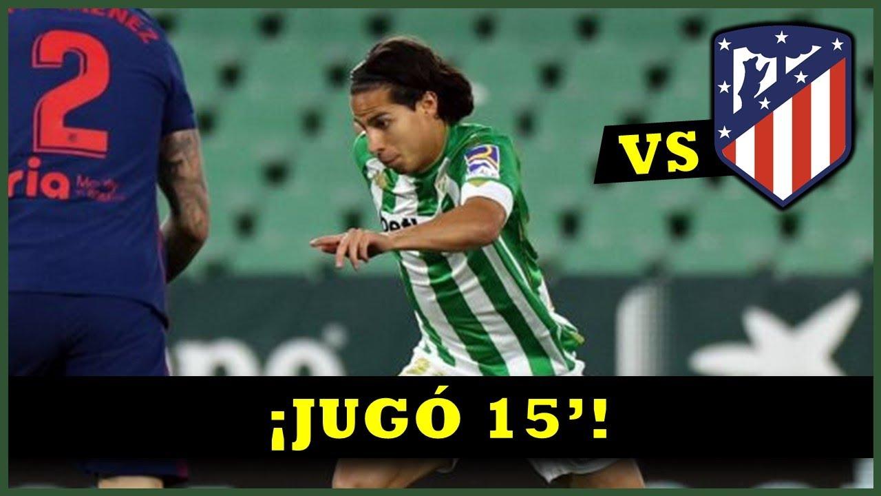 Así jugó Diego Lainez vs ᴀᴛʟᴇ́ᴛɪᴄᴏ ᴍᴀᴅʀɪᴅ - 11 abril 2021⚽