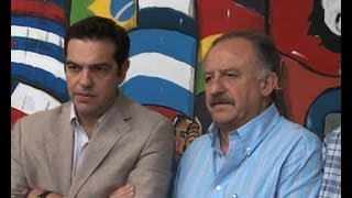 Repeat youtube video La CTA de Yasky recibió a coalición de partidos griegos de izquierda