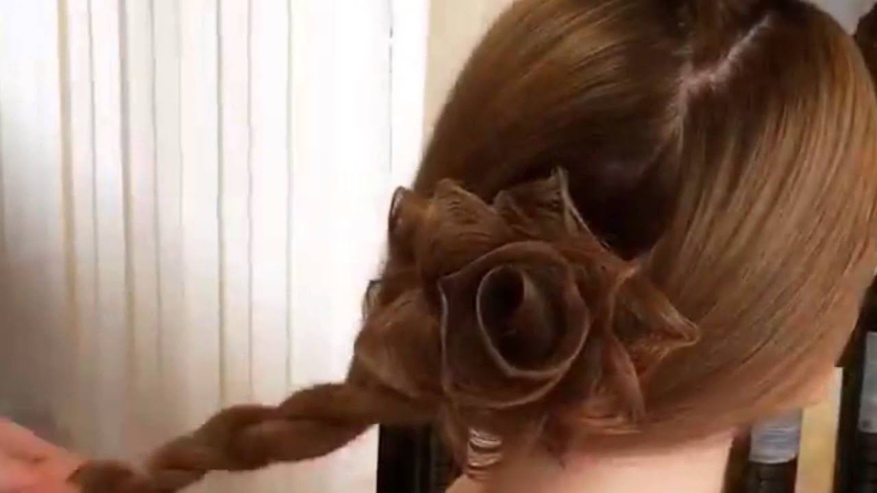 Цветок из волос пошагово