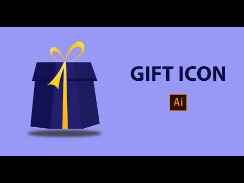 Illustrator Tutorials  || Design Gift Box Flat Icon