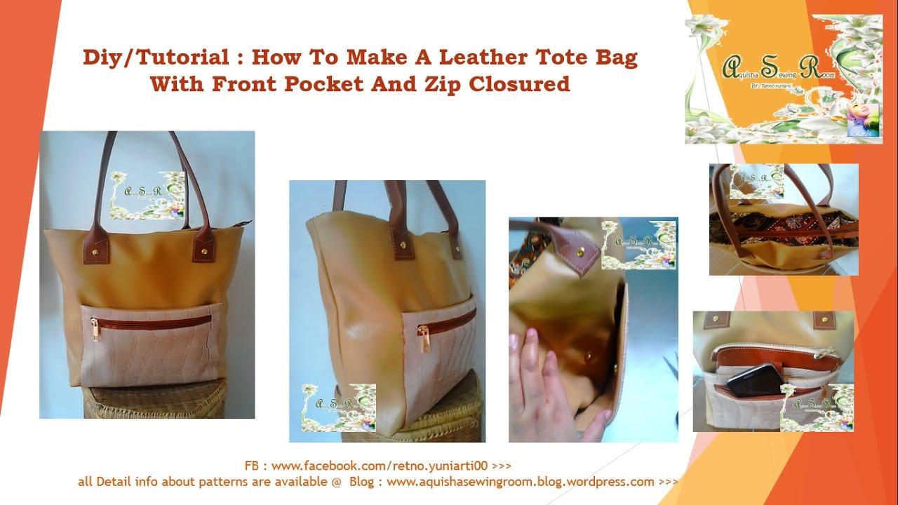 DIY Sewing leather bag tutorial e5c3bcb675560